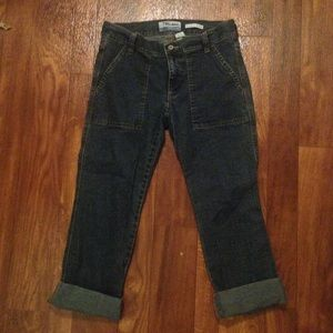 Old Navy Blue jean crop jeans